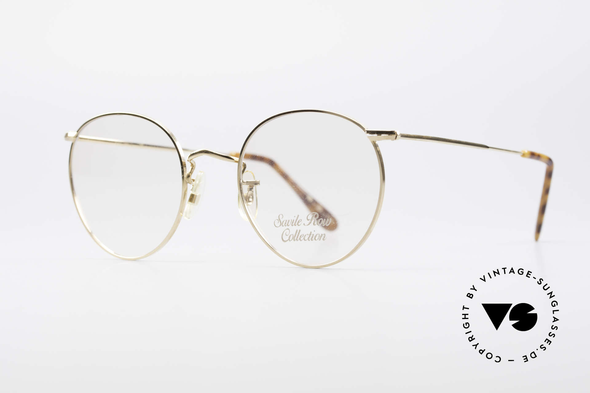 Savile Row Panto 49/20 John Lennon Vintage Glasses, finest manufacturing (gold-filled); made in the UK, Made for Men