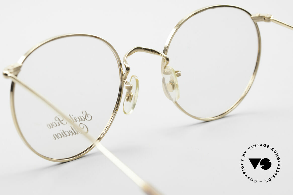 Savile Row Panto 49/20 John Lennon Vintage Glasses, unworn rarity in 'M' size 49/20; 14kt Rolled Gold, Made for Men