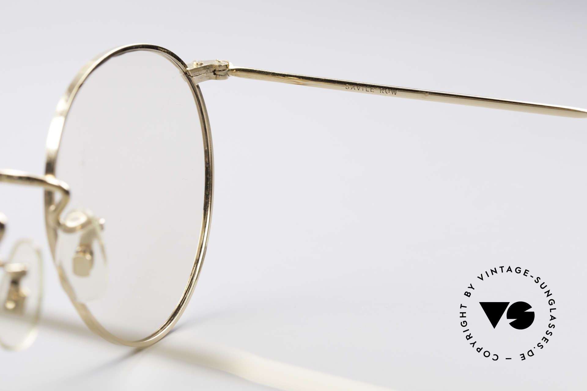 Savile Row Panto 49/20 John Lennon Vintage Glasses, metal frame can be glazed with lenses of any kind, Made for Men