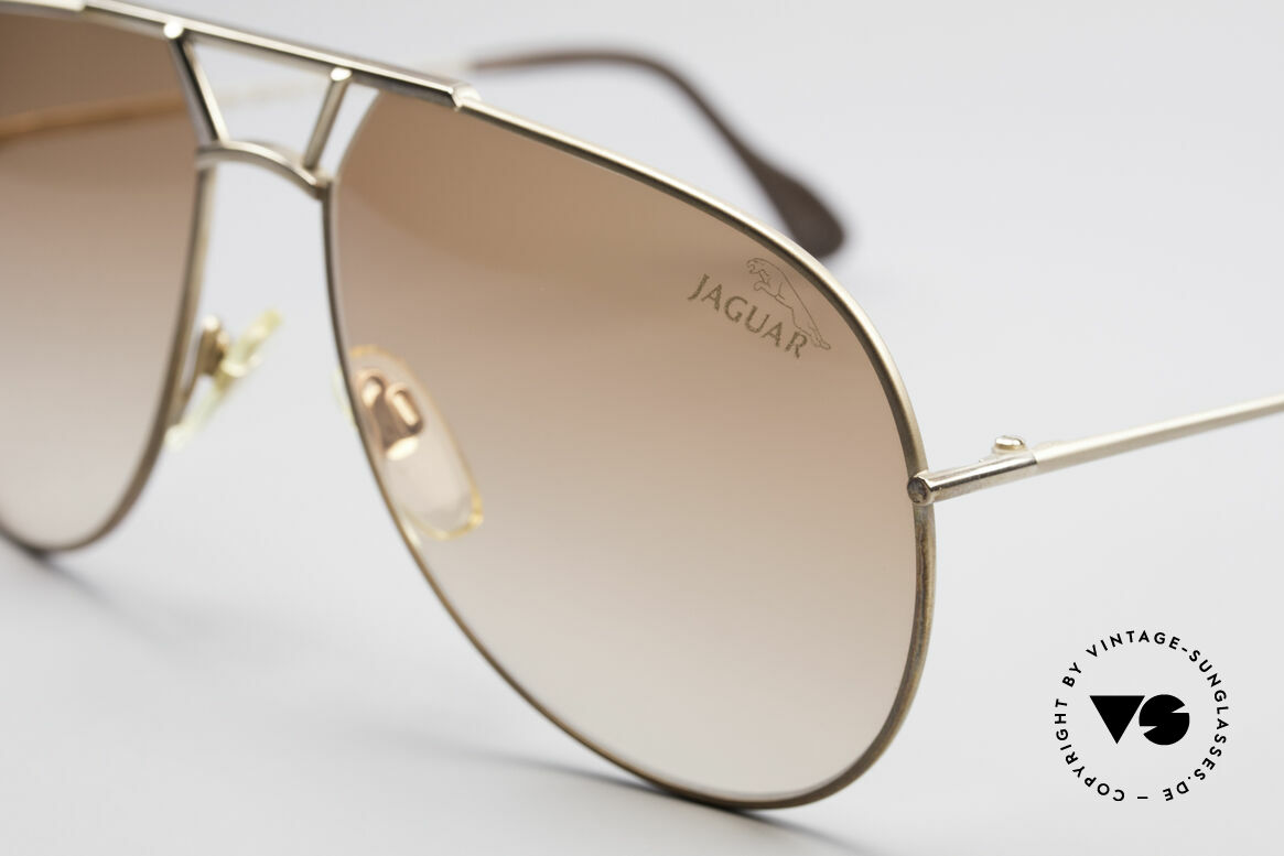 Jaguar 795 Vintage Men's Sunglasses, gold frame & brown-gradient lenses; 100% UV, Made for Men