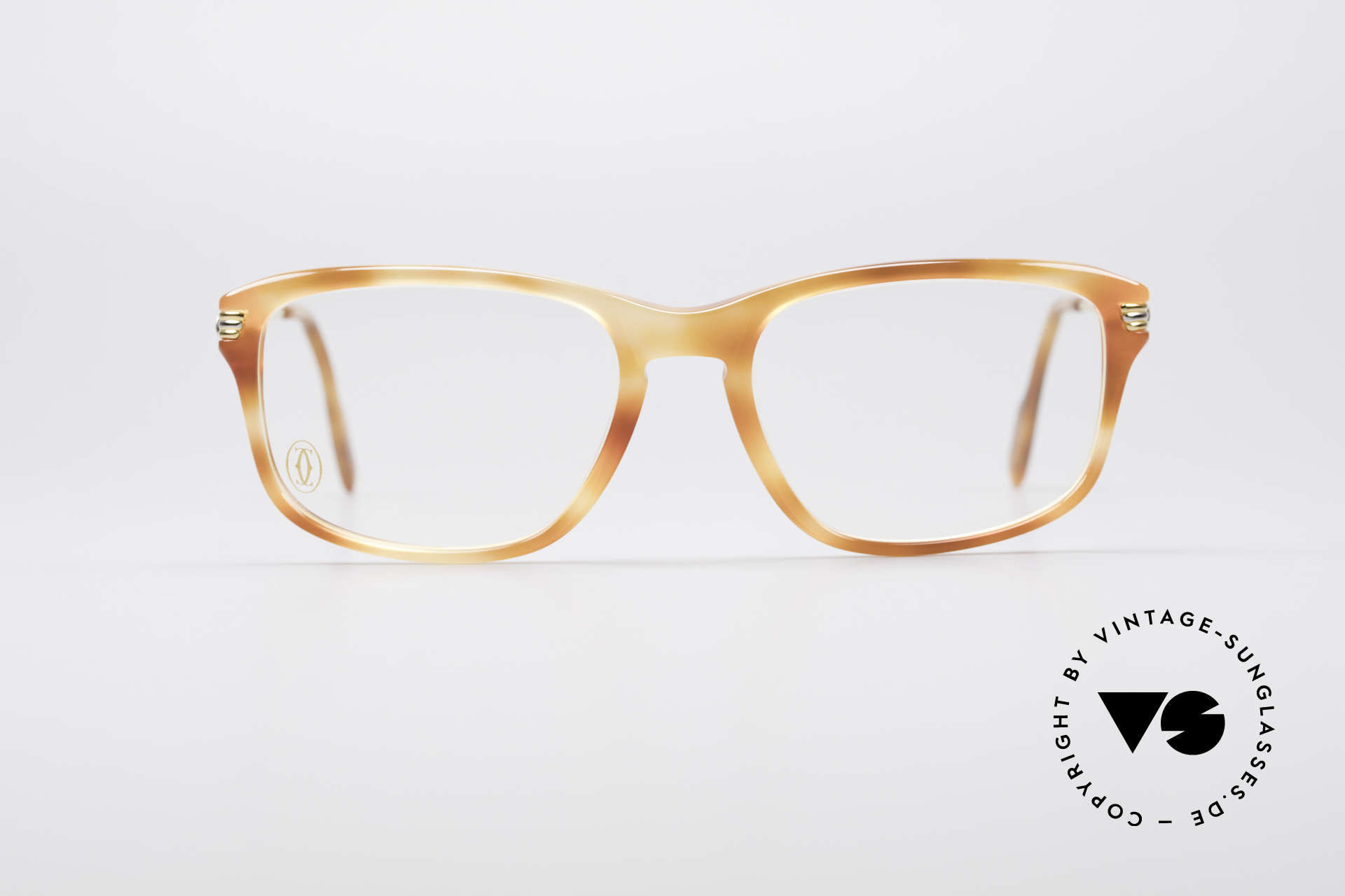 Cartier Lumen - S 90's Luxury Vintage Glasses, 22ct gold-plated & great frame pattern: 'marbled blond', Made for Men and Women