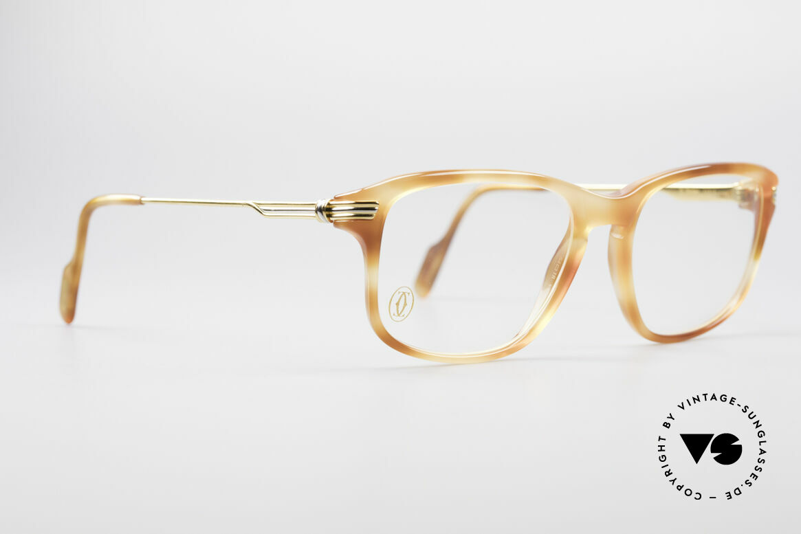 Cartier Lumen - S 90's Luxury Vintage Glasses, precious old original in small size 54°18 (130mm width), Made for Men and Women