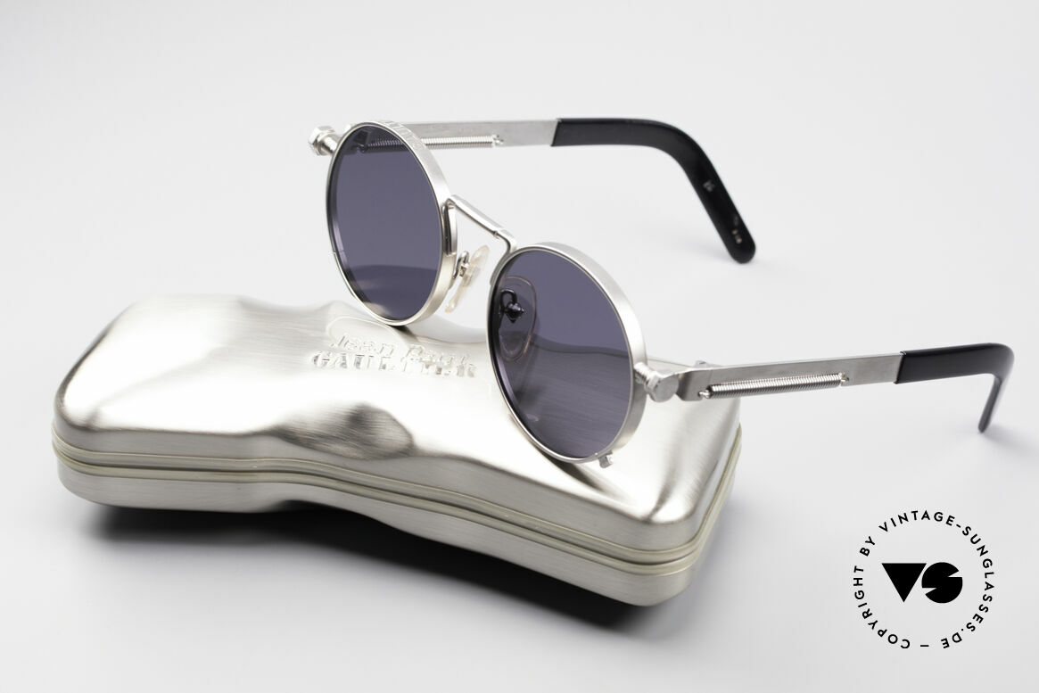 sunglasses jean paul gaultier 56 8171 steampunk vintage. Black Bedroom Furniture Sets. Home Design Ideas