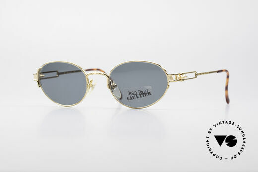Jean Paul Gaultier 55-5108 Gold Plated Oval Frame Details