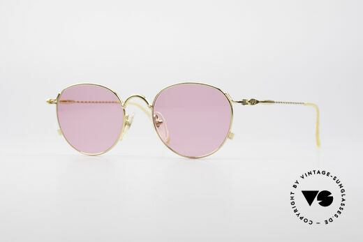 Jean Paul Gaultier 55-2172 Gold Plated Pink Glasses Details