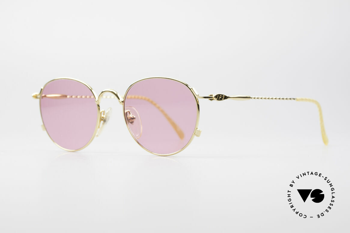 Jean Paul Gaultier 55-2172 Gold Plated Pink Glasses