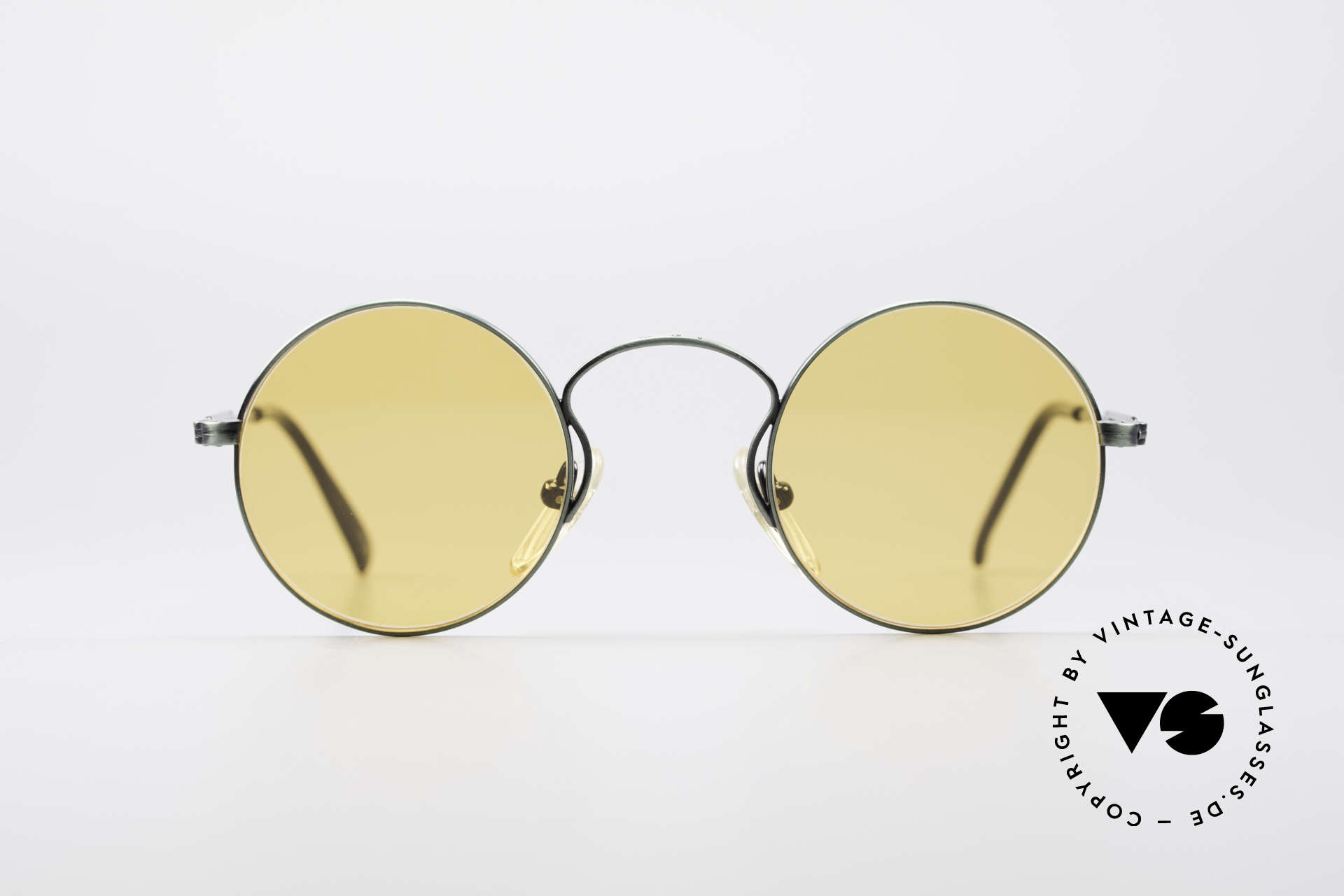 Jean Paul Gaultier 55-0172 Round Vintage Glasses JPG, round metal frame; lightweight & very comfortable, Made for Men and Women