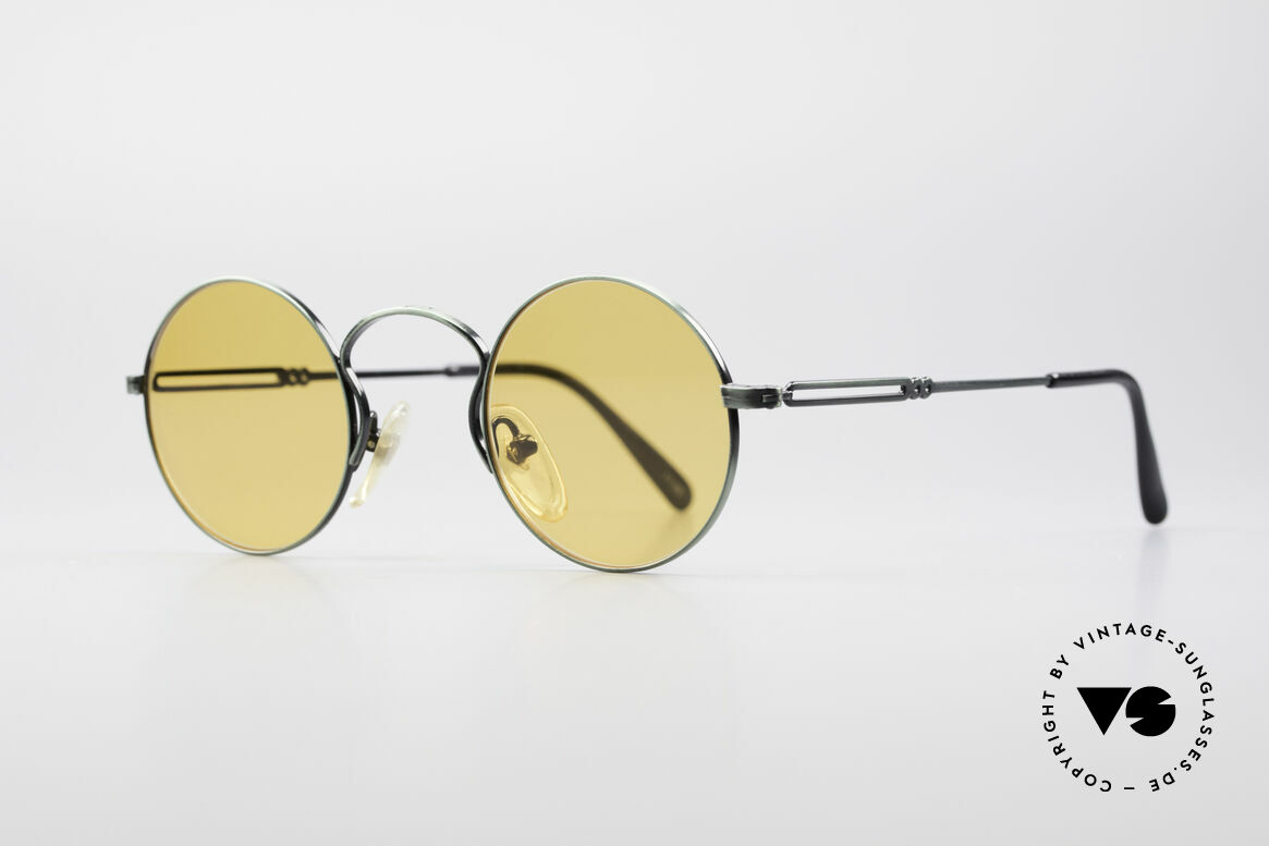 Jean Paul Gaultier 55-0172 Round Vintage Glasses JPG, high-class finish (brushed metal in green-metallic), Made for Men and Women