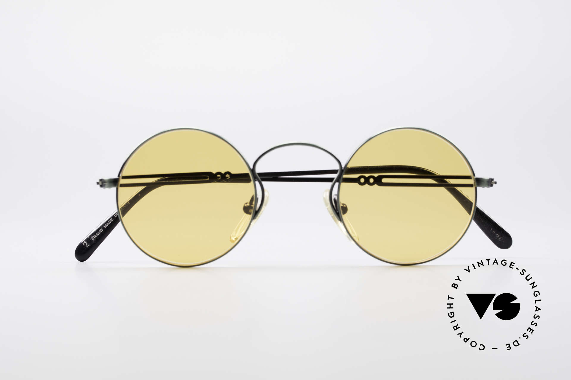 Jean Paul Gaultier 55-0172 Round Vintage Glasses JPG, orange sun lenses can be replaced with prescriptions, Made for Men and Women