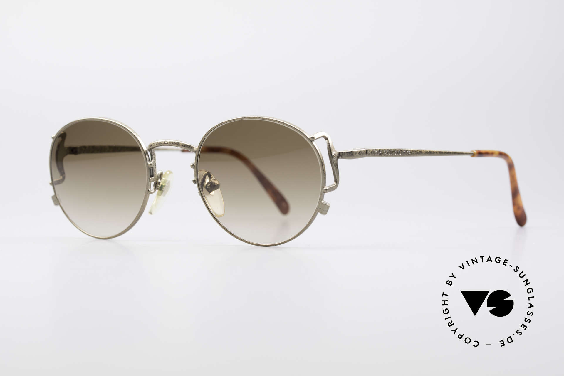 Jean Paul Gaultier 55-3178 90's Vintage No Retro Specs, brown gradient sun lenses (100% UV protection), Made for Men and Women