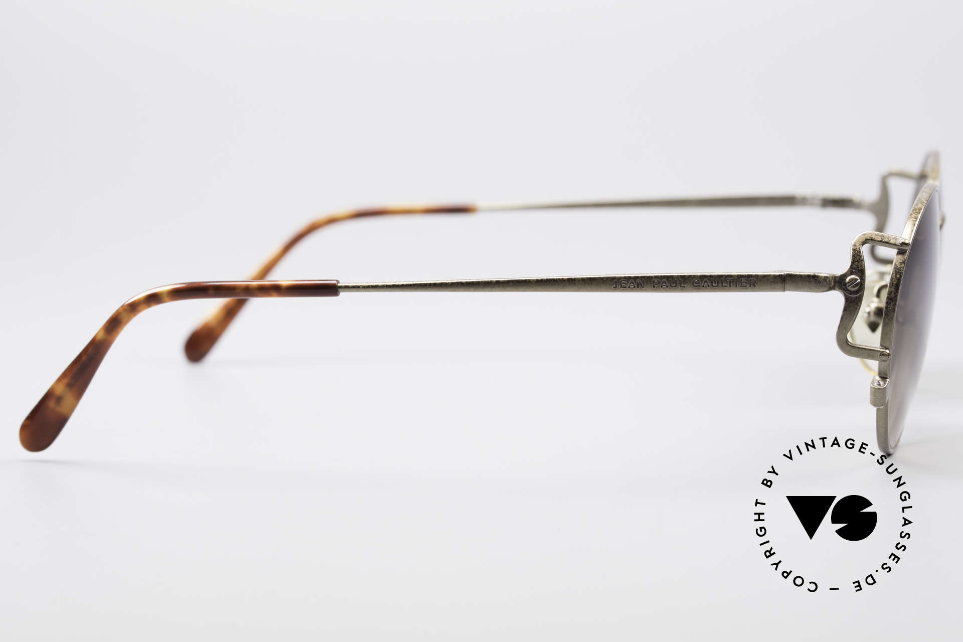 Jean Paul Gaultier 55-3178 90's Vintage No Retro Specs, sun lenses could be replaced with optical lenses, Made for Men and Women