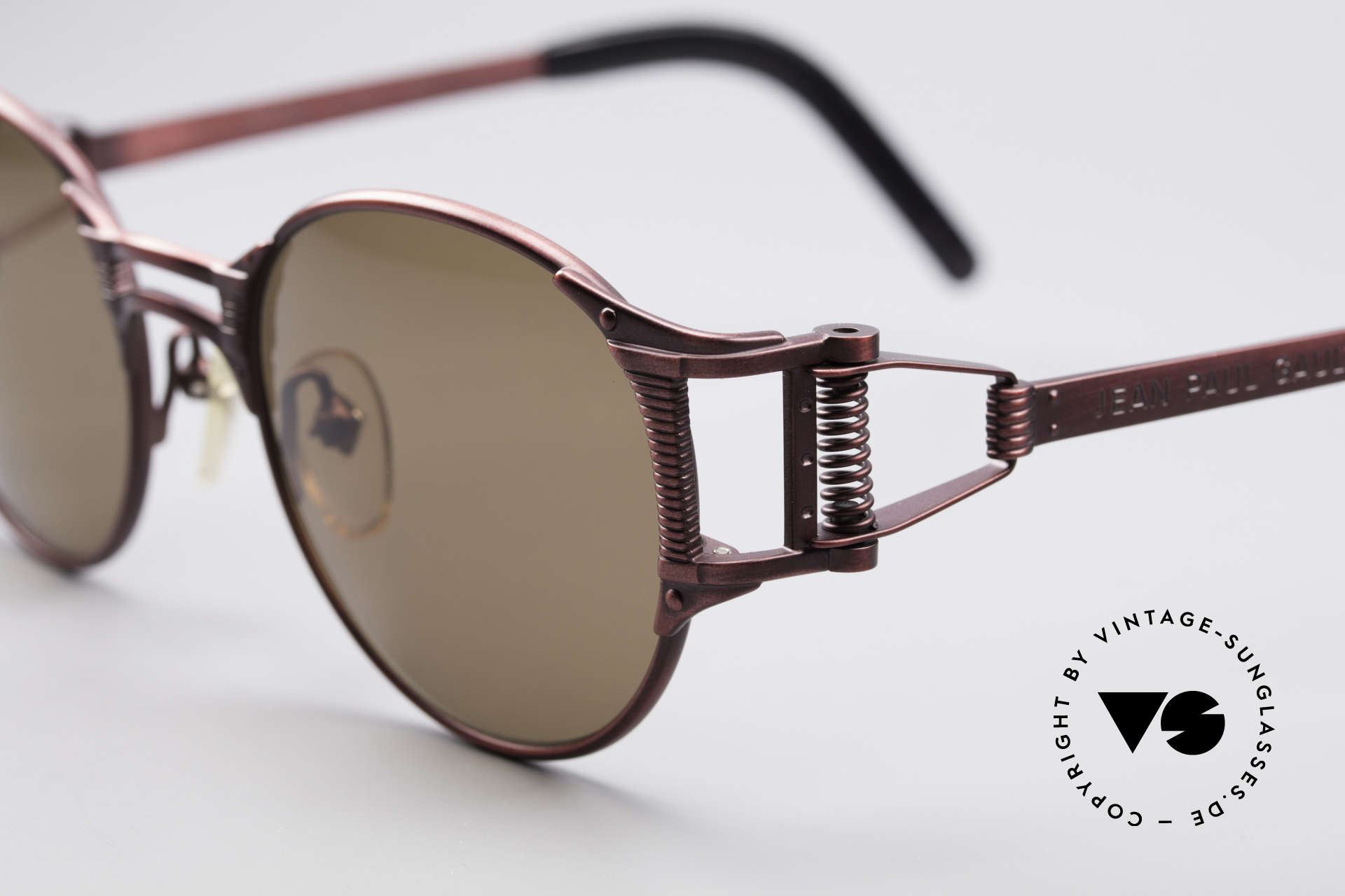 Jean Paul Gaultier 56-5105 Rare Celebrity Sunglasses, monolithic JPG design (true 'vintage'!); made in Japan, Made for Men and Women
