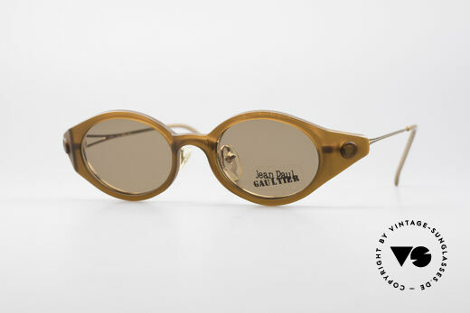 Jean Paul Gaultier 56-7202 Oval Frame With Sun Clip Details