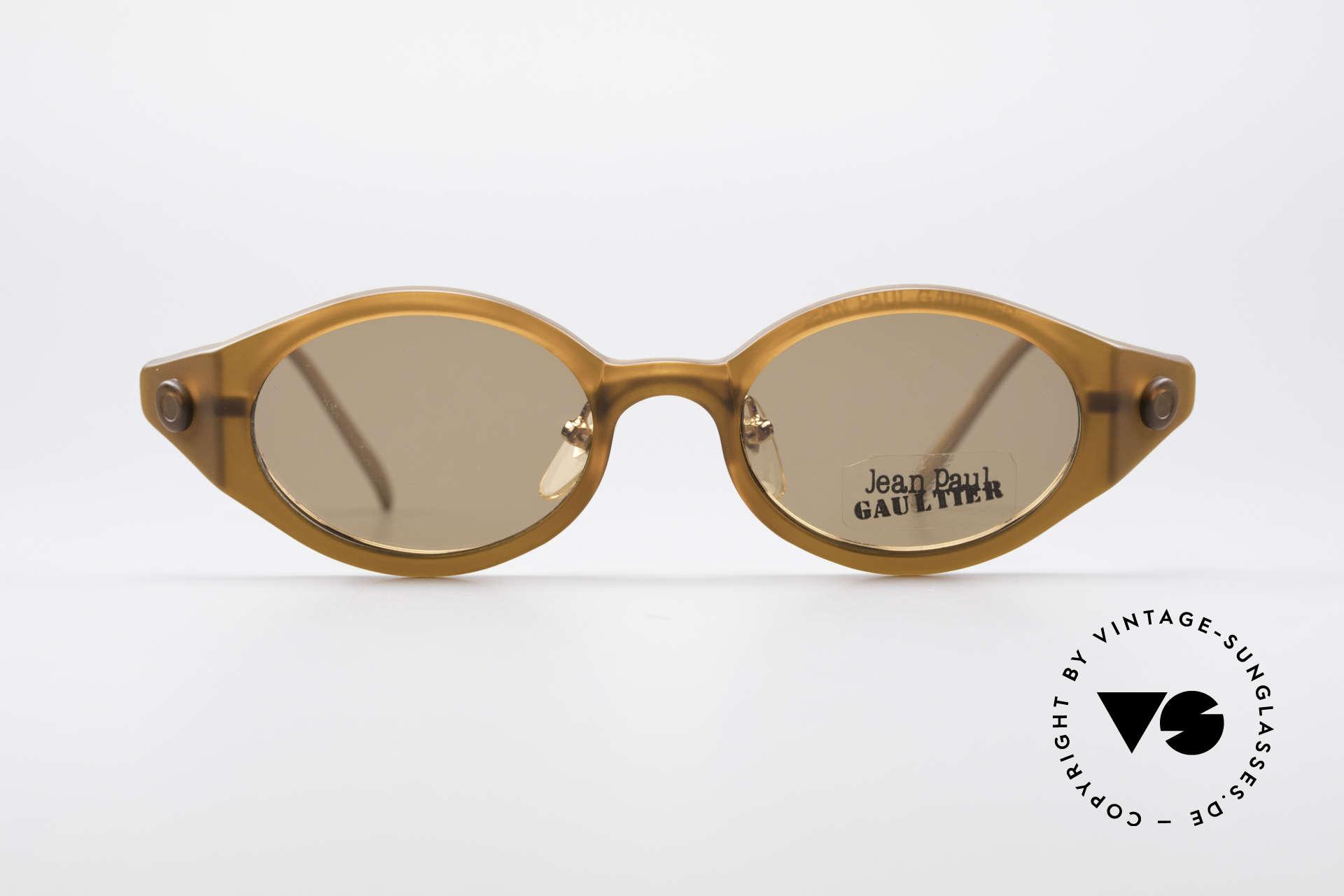 3f15ab7857b Sunglasses Jean Paul Gaultier 56-7202 Oval Frame With Sun Clip ...