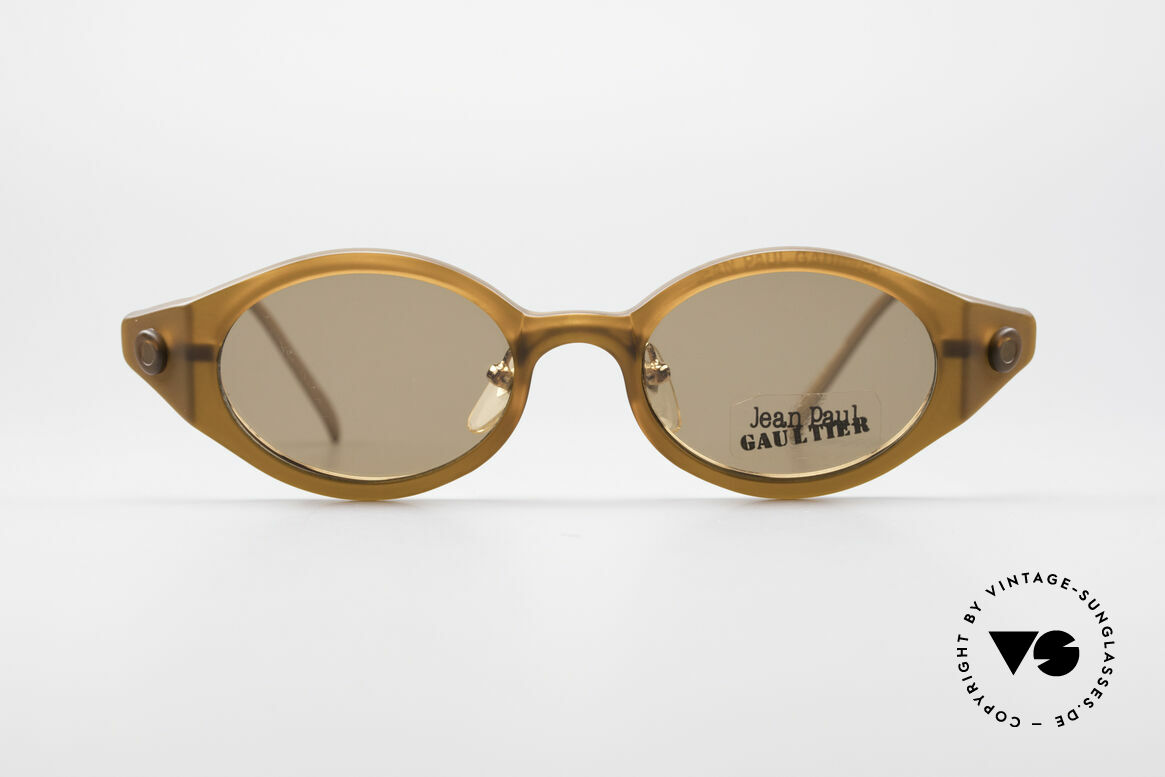Jean Paul Gaultier 56-7202 Oval Frame With Sun Clip, magnetic removable sun clip for 100% UV protection, Made for Men and Women