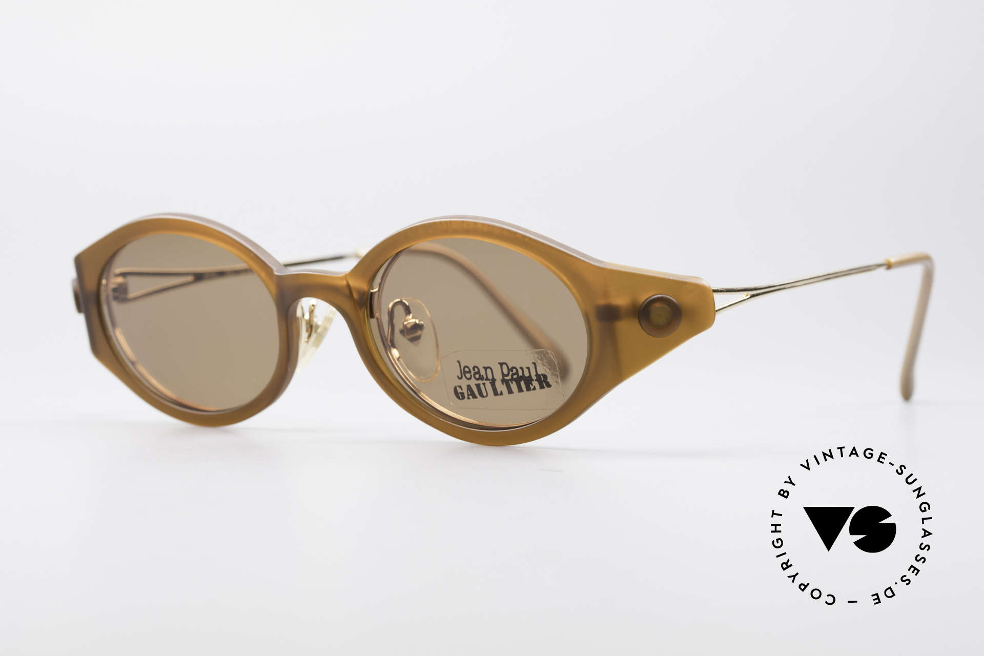 Jean Paul Gaultier 56-7202 Oval Frame With Sun Clip, best craftsmanship & 1. class comfort (made in Japan), Made for Men and Women