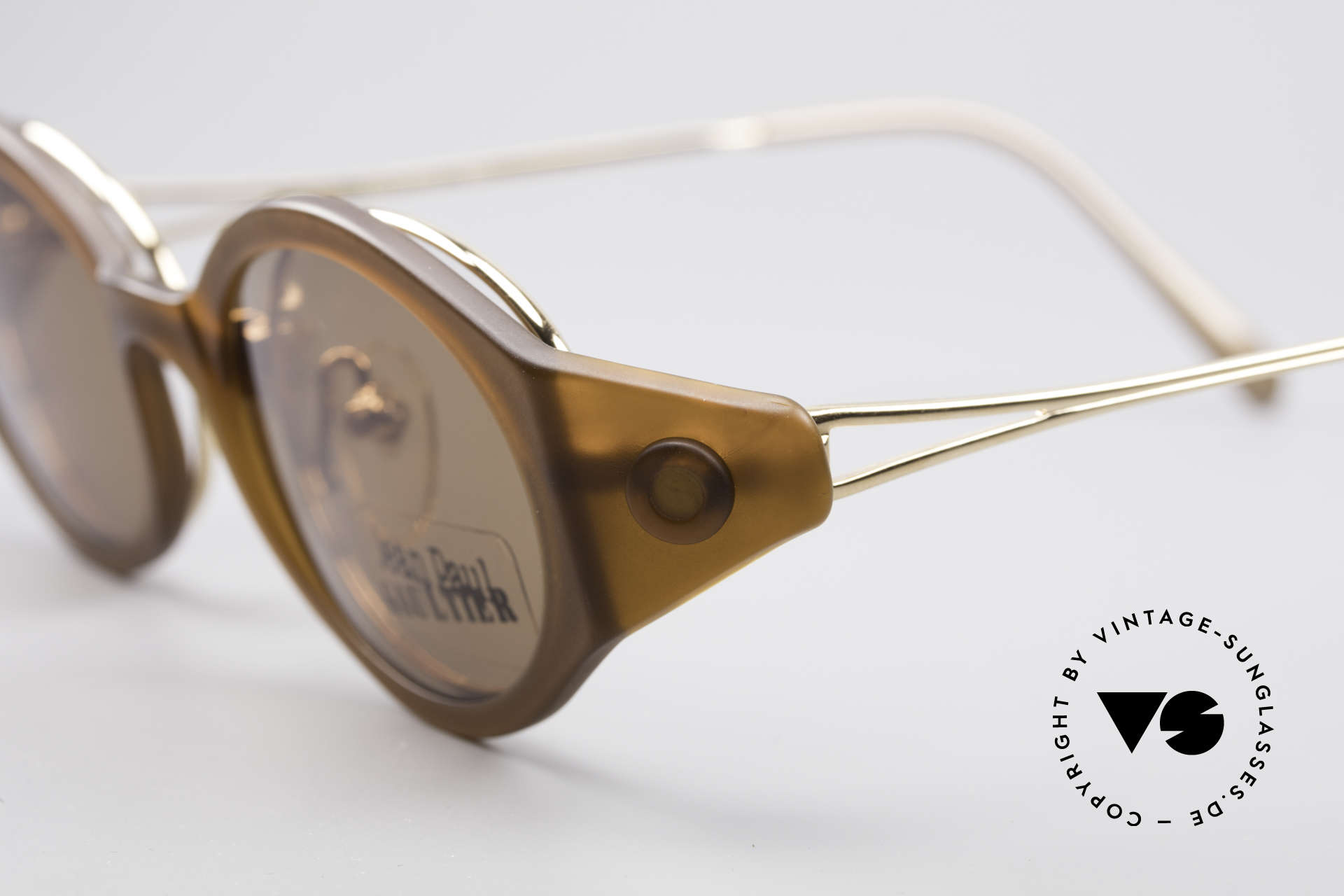 Jean Paul Gaultier 56-7202 Oval Frame With Sun Clip, classic oval metal frame with prominent plastic clip, Made for Men and Women