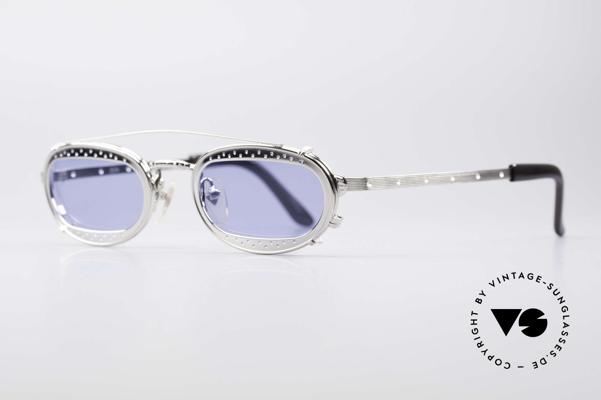 Jean Paul Gaultier 56-7116 Limited Vintage Glasses, with ingenious CLIP-ON (made for prescription lenses), Made for Men and Women