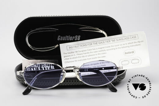 Jean Paul Gaultier 56-7116 Limited Vintage Glasses, NO RETRO; a rare original from 1998 with full packing, Made for Men and Women