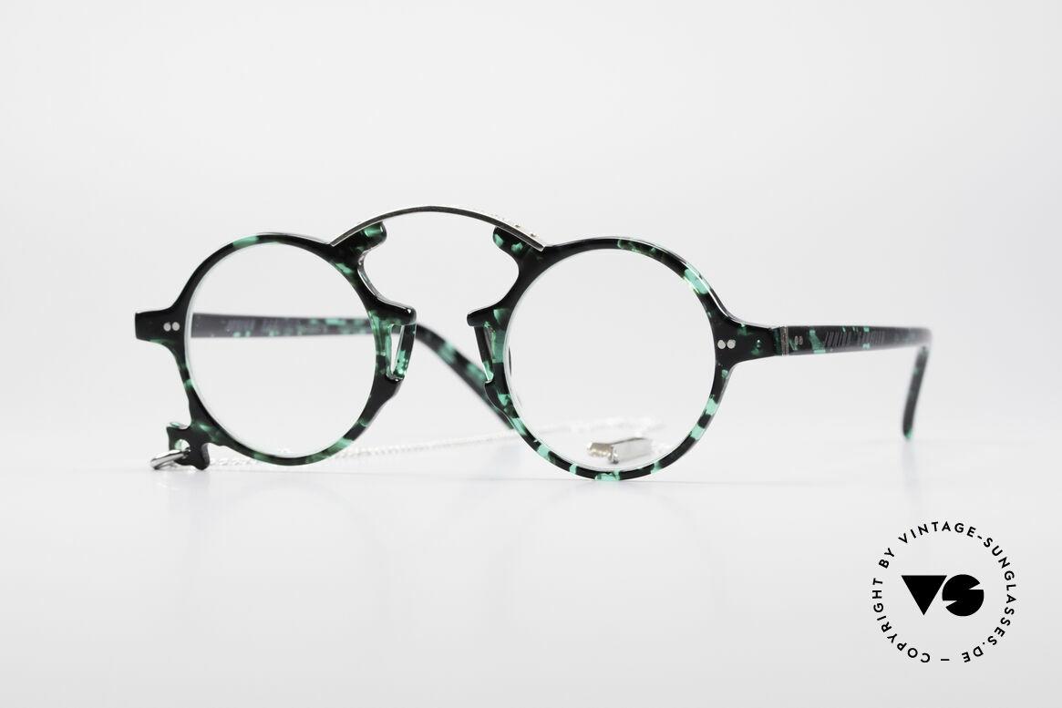 Jean Paul Gaultier 58-0271 90's Steampunk Eyeglasses, vintage round eyeglasses by Jean Paul Gaultier, Made for Men and Women