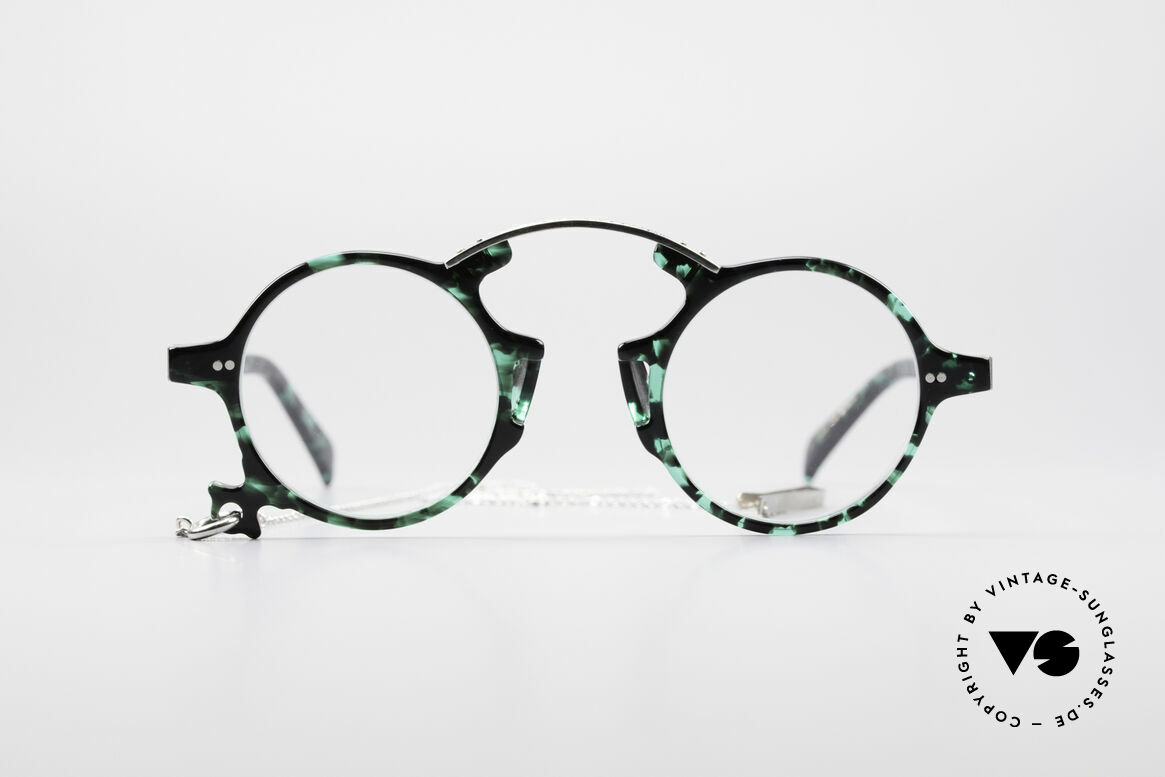 Jean Paul Gaultier 58-0271 90's Steampunk Eyeglasses, spectacular model of the Junior Gaultier Series, Made for Men and Women