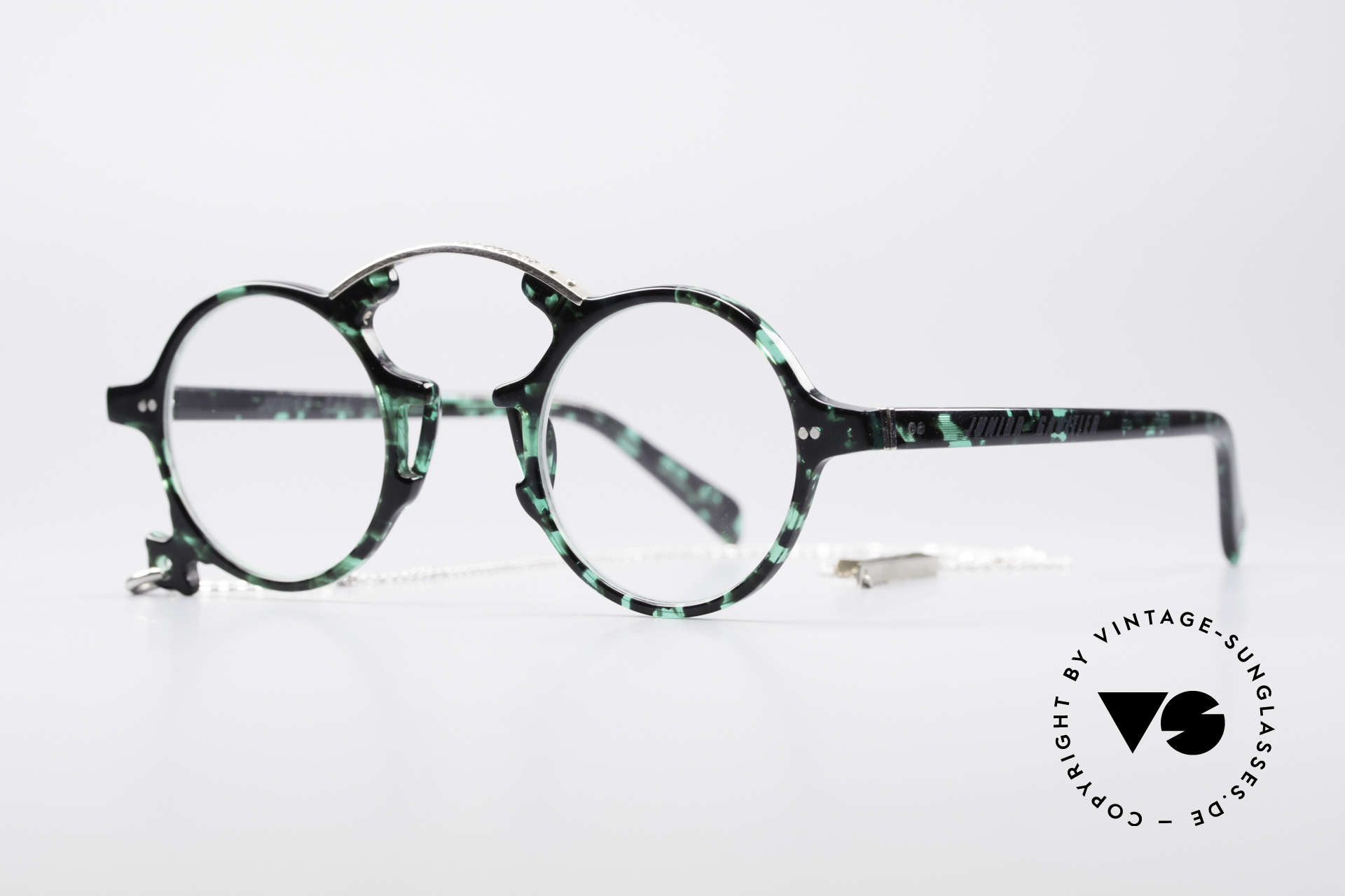 Jean Paul Gaultier 58-0271 90's Steampunk Eyeglasses, true designer frame with unique frame coloring, Made for Men and Women