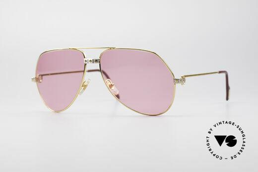Cartier Vendome Santos - L Pink Luxury Sunglasses Details