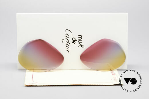 Cartier Vendome Lenses - L Tricolored Sunrise Lenses Details