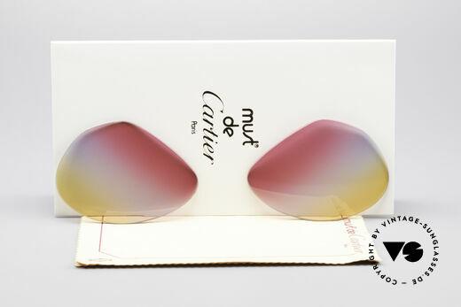 Cartier Vendome Lenses - L Tricolored Sunrise Lenses Details