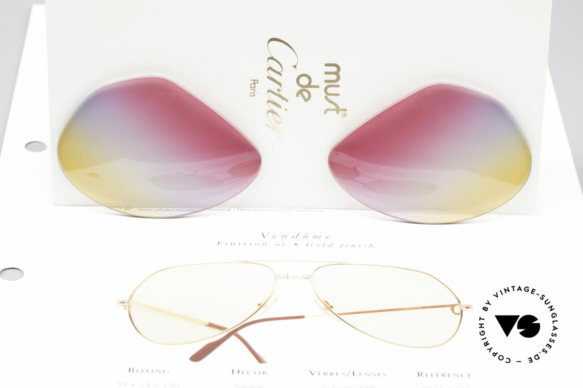 Cartier Vendome Lenses - L Tricolored Sunrise Lenses