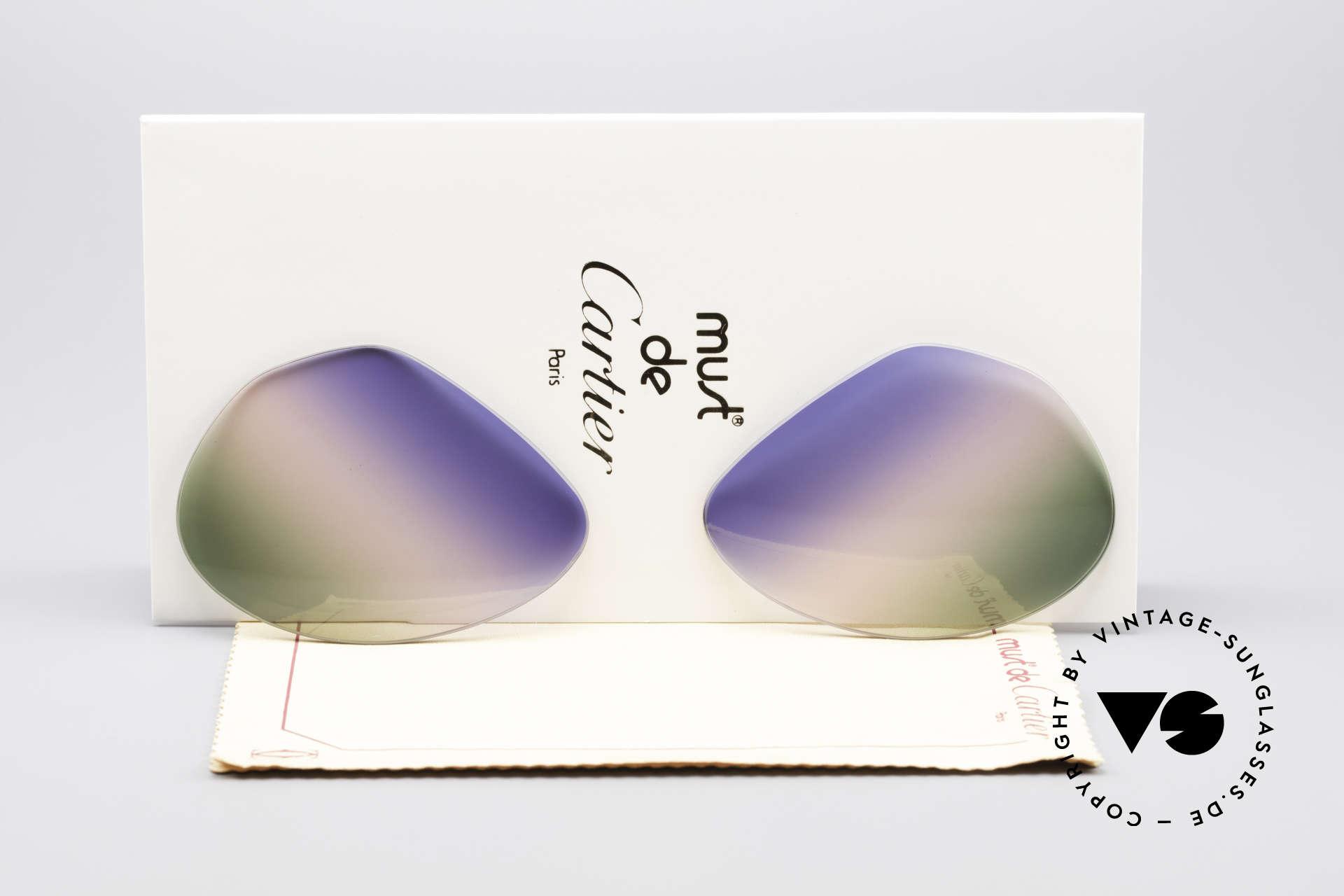 Cartier Vendome Lenses - L Tricolored Horizon Lenses, replacement lenses for Cartier mod. Vendome 62mm size, Made for Men and Women