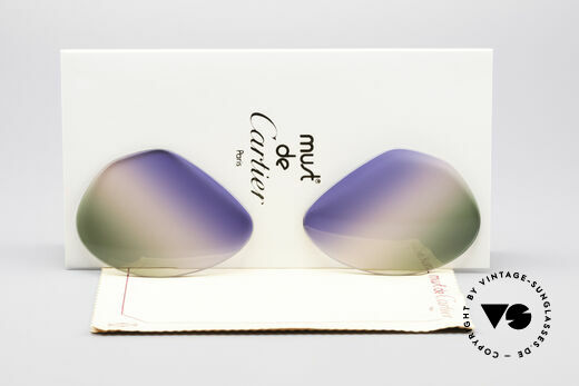 Cartier Vendome Lenses - L Tricolored Horizon Lenses Details