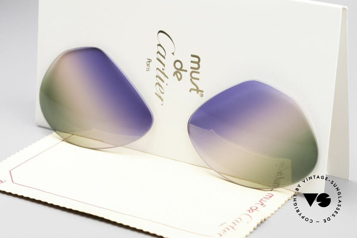 Cartier Vendome Lenses - L Tricolored Horizon Lenses, new CR39 UV400 plastic lenses (for 100% UV protection), Made for Men and Women
