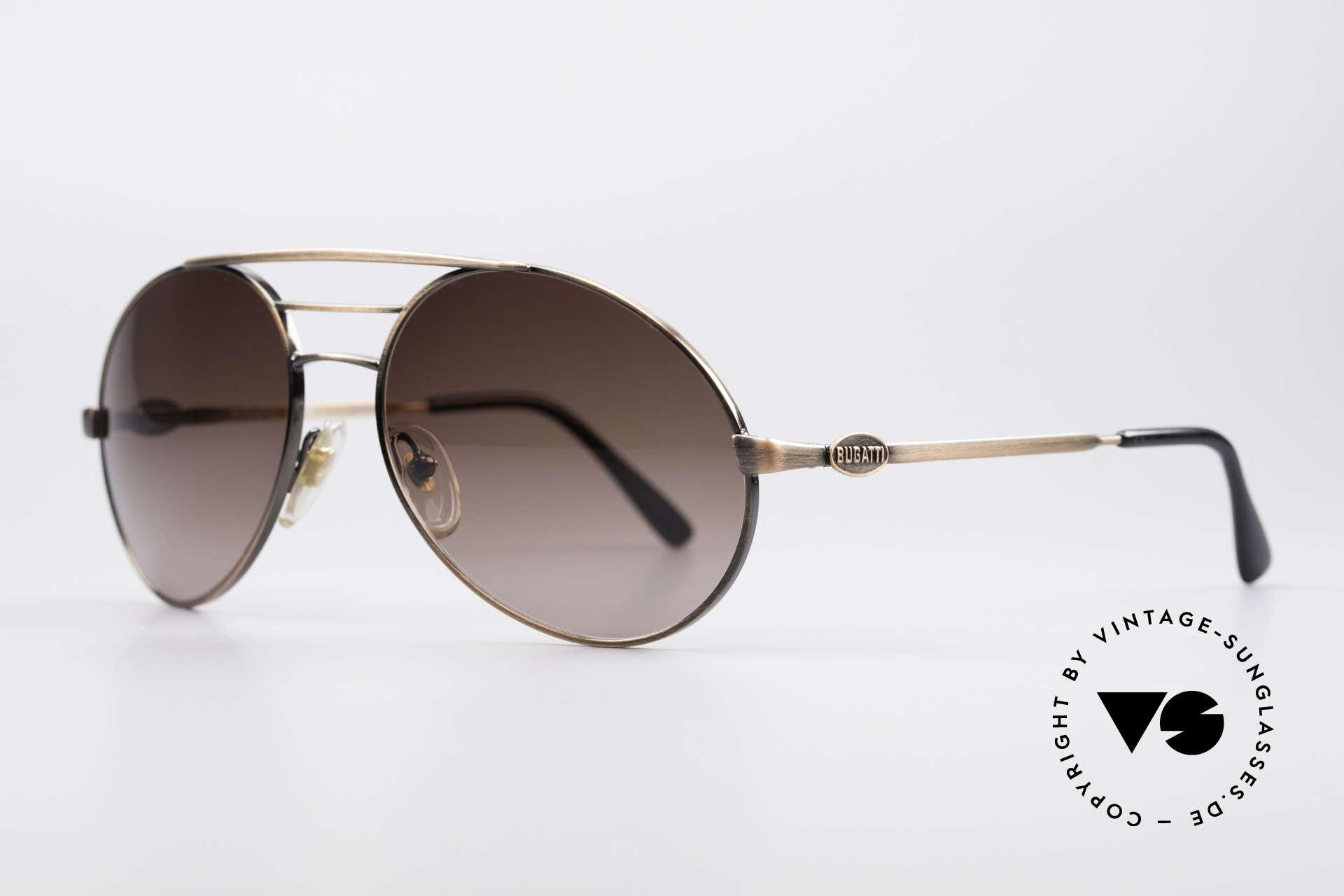 Bugatti 65090 Men's 80's Designer Shades, perfect gentlemen's vintage shades (masculine design), Made for Men