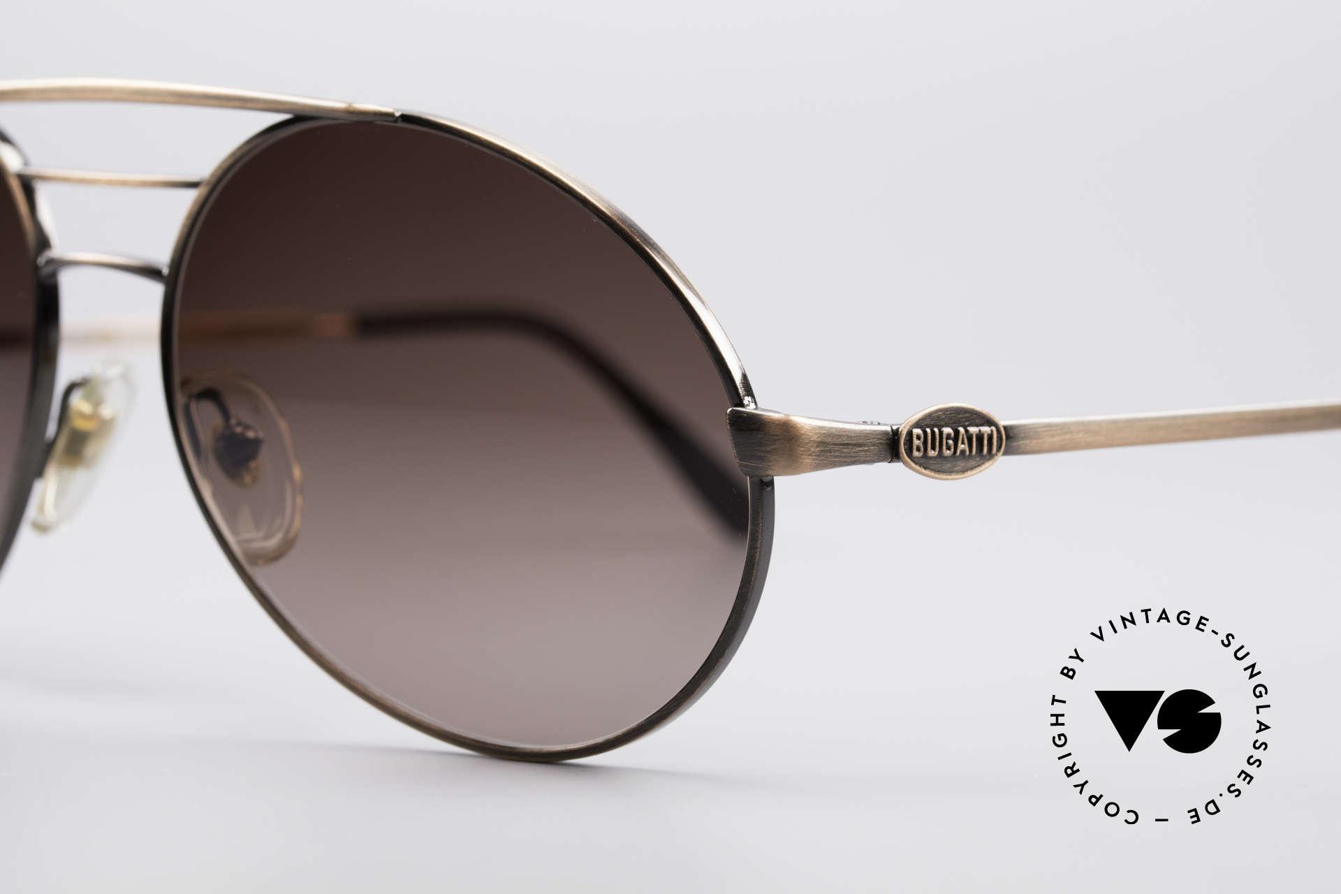 Bugatti 65090 Men's 80's Designer Shades, materials (100% UV prot.) & workmanship on top level, Made for Men