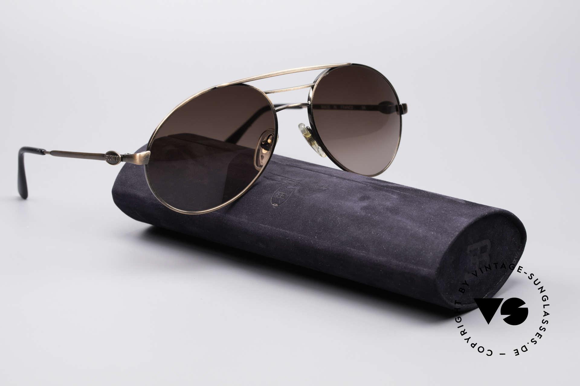 Bugatti 65090 Men's 80's Designer Shades, NO RETRO sunglasses, but a rare 30 years old Original, Made for Men