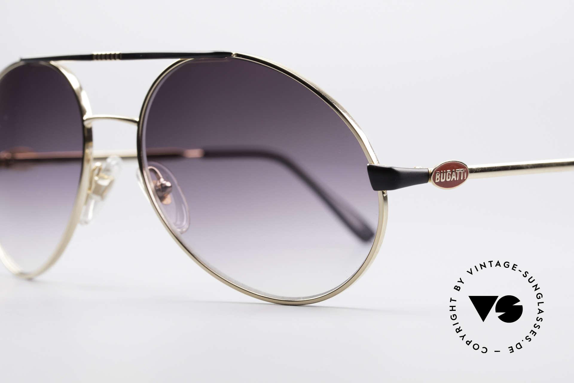 Bugatti 65837 80's Designer Sunglasses, materials (100% UV prot.) & workmanship on top level, Made for Men