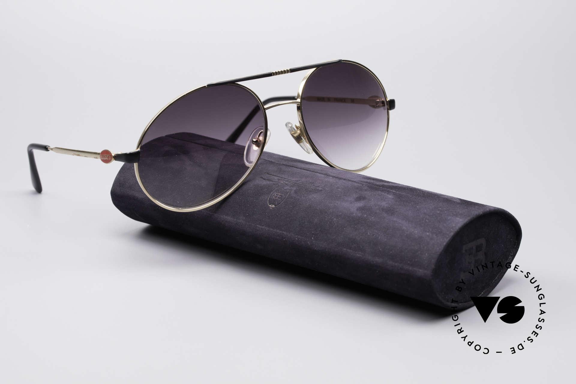 Bugatti 65837 80's Designer Sunglasses, NO RETRO sunglasses, but a rare 30 years old Original, Made for Men