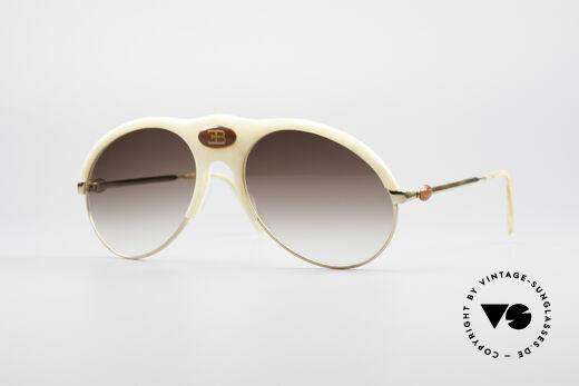 Bugatti 64748 Rare Ivory Optic Glasses Details
