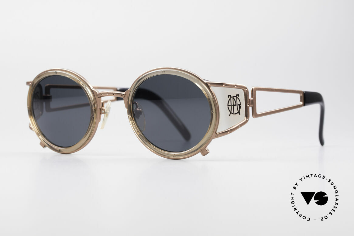Jean Paul Gaultier 58-6201 Vintage Celebrity Glasses, very creative frame: high-end quality (made in Japan), Made for Men and Women