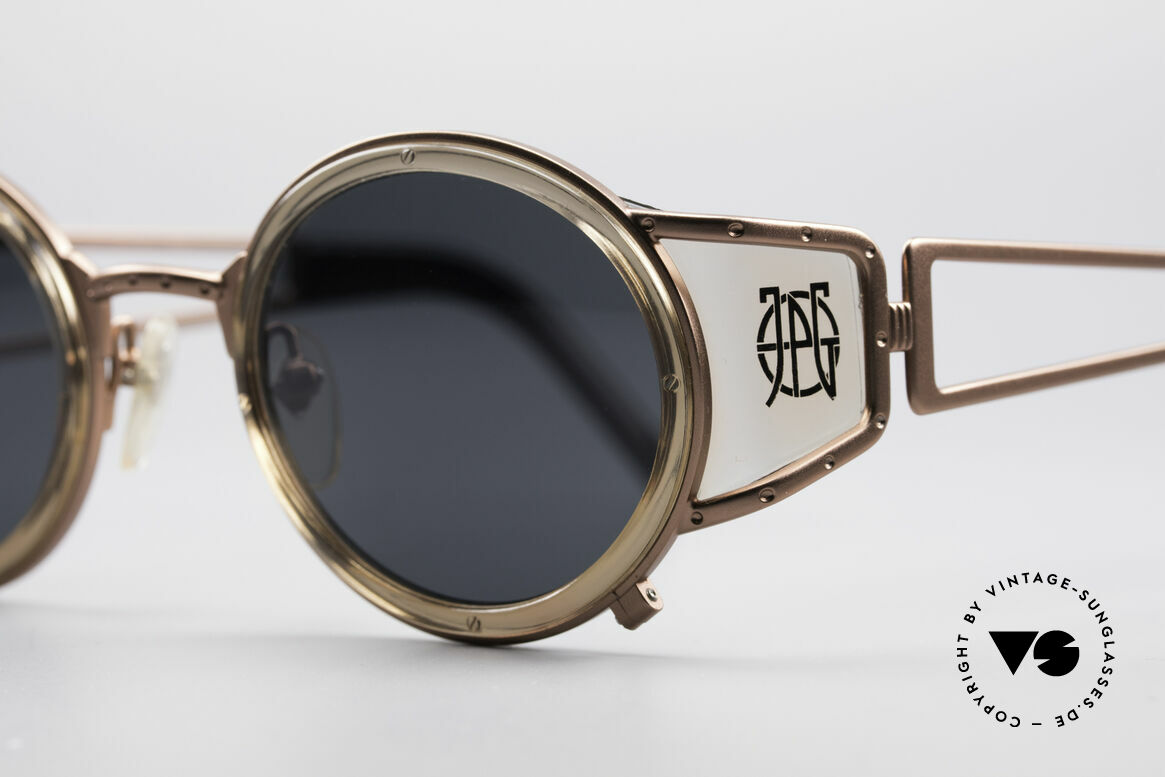 "Jean Paul Gaultier 58-6201 Vintage Celebrity Glasses, often called as ""steampunk sunglasses"" in these days, Made for Men and Women"