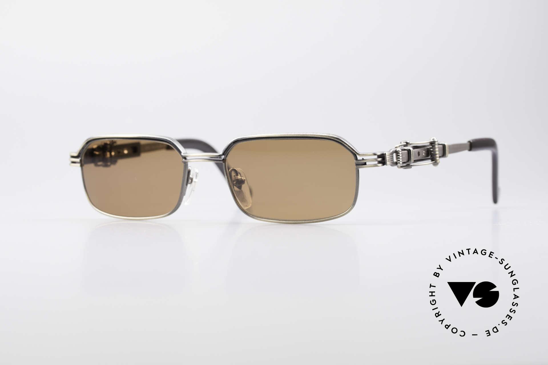 Jean Paul Gaultier 56-0002 Adjustable Frame Belt Buckle, vintage Jean Paul GAULTIER sunglasses from 1996, Made for Men