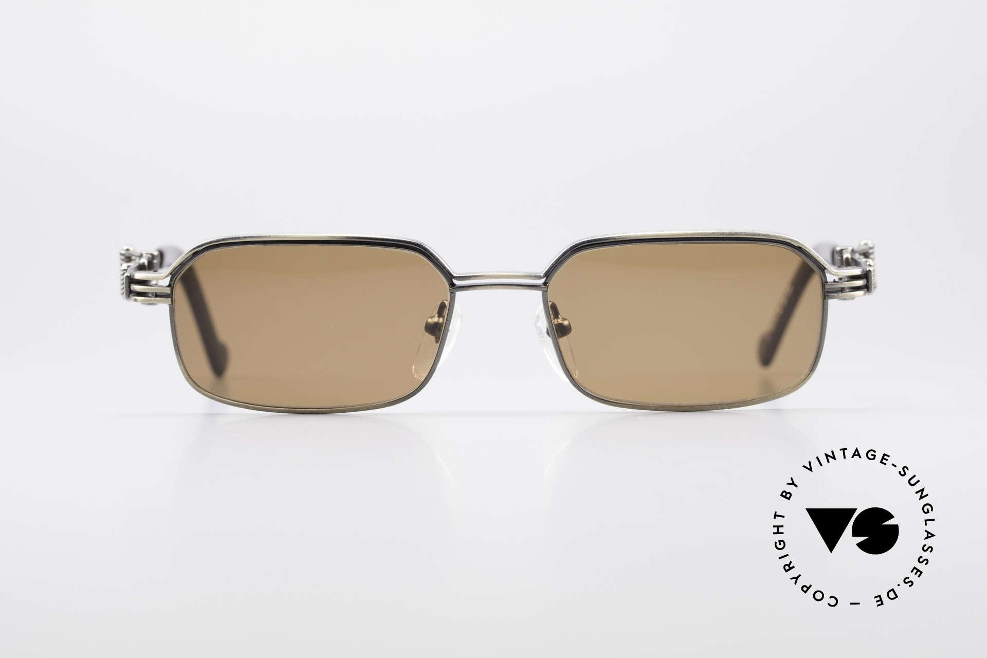 Jean Paul Gaultier 56-0002 Adjustable Frame Belt Buckle, outstanding TOP-quality (antique titanium frame), Made for Men