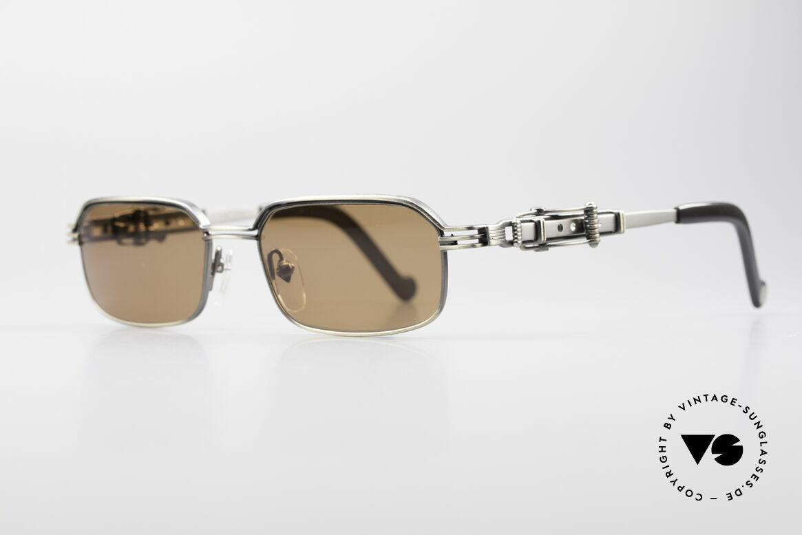 Jean Paul Gaultier 56-0002 Adjustable Frame Belt Buckle, adjustable temple-system looks like a belt buckle, Made for Men
