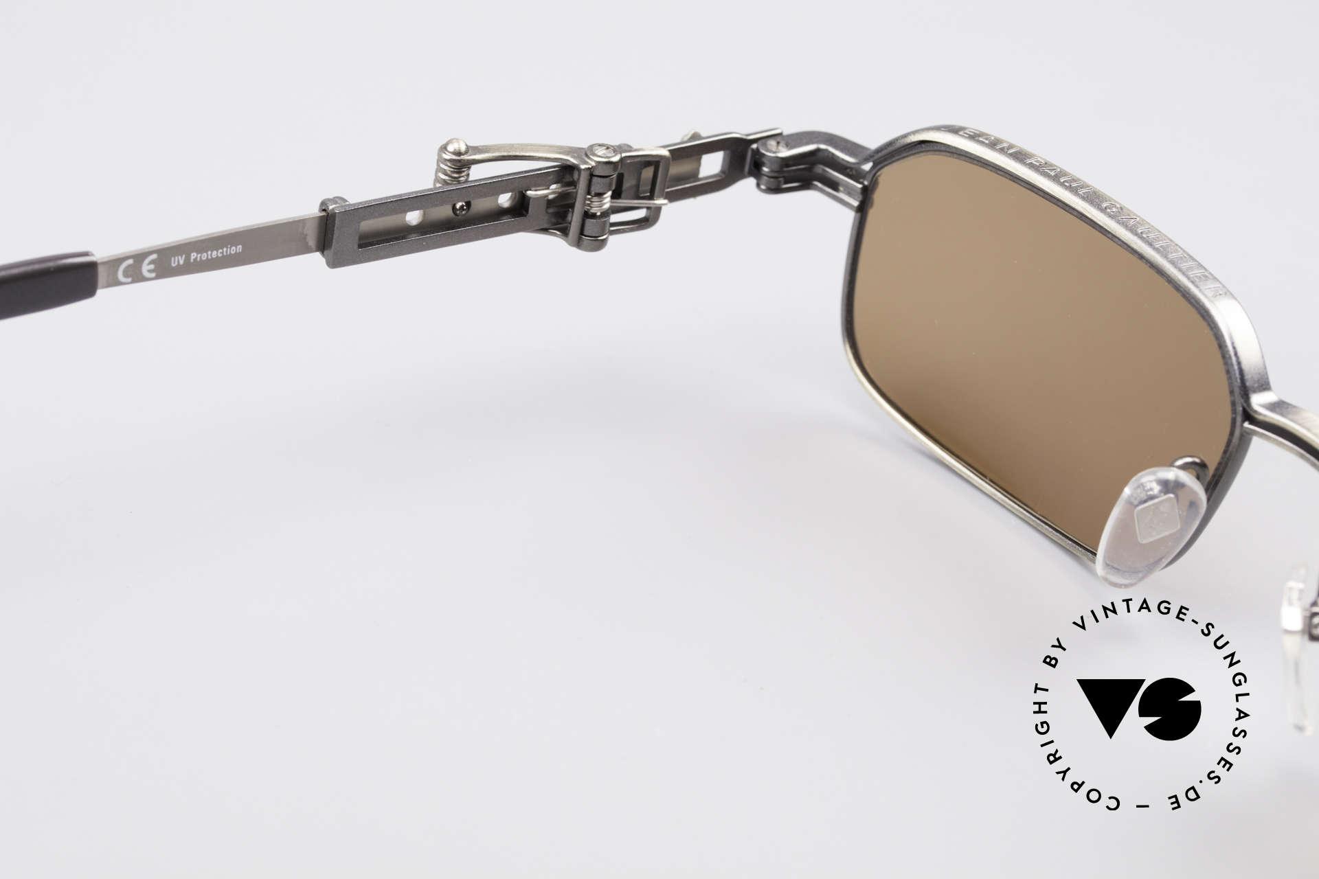 Jean Paul Gaultier 56-0002 Adjustable Frame Belt Buckle, metal frame can be glazed with optical lenses, too, Made for Men