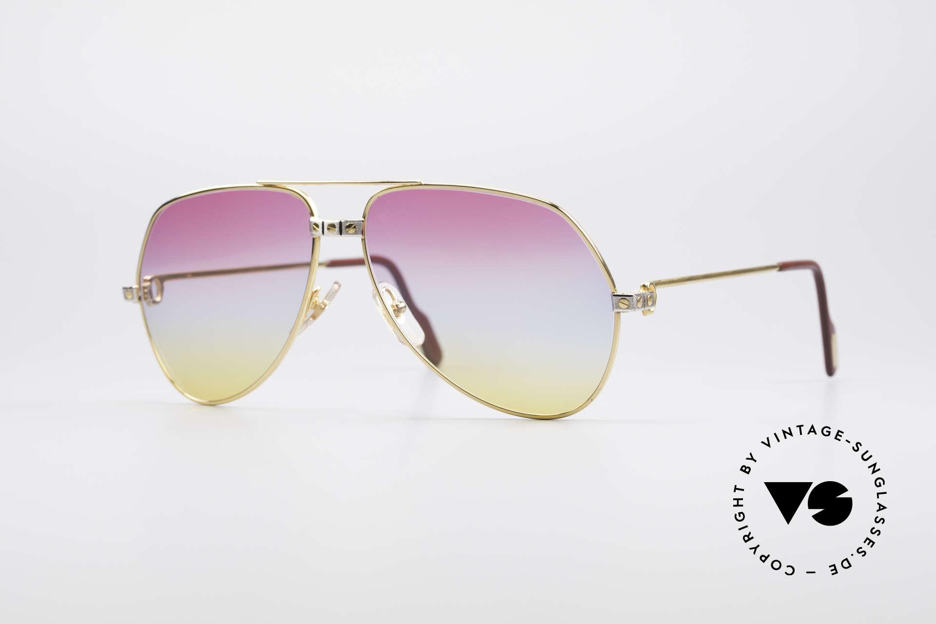 Cartier Vendome Santos - M Rare 80's Aviator Sunglasses, Vendome = the most famous eyewear design by CARTIER, Made for Men and Women