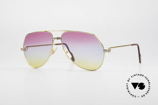 Cartier Vendome Santos - M Rare 80's Aviator Sunglasses Details
