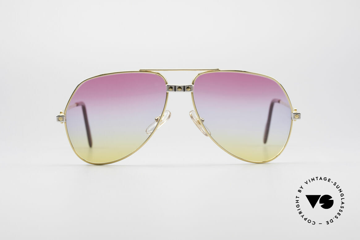 "Cartier Vendome Santos - M Rare 80's Aviator Sunglasses, mod. ""Vendome"" was launched in 1983 & made till 1997, Made for Men and Women"