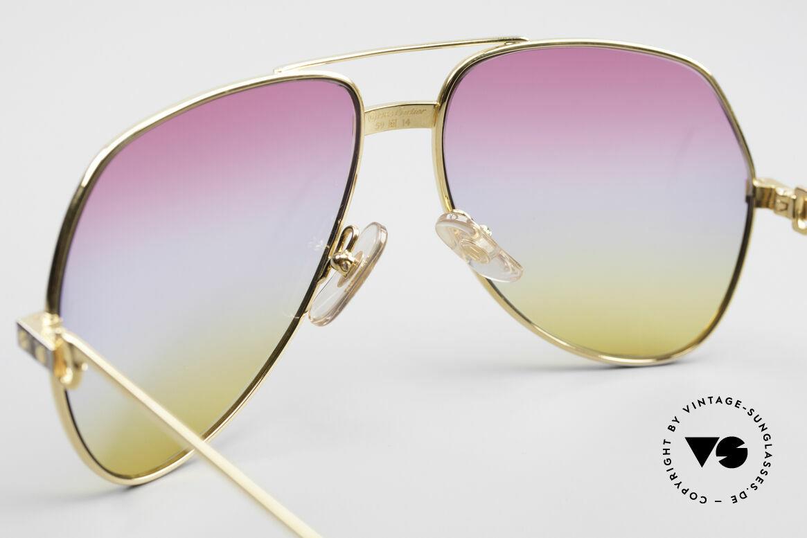 Cartier Vendome Santos - M Rare 80's Aviator Sunglasses, worn by actor Christopher Walken (JAMES BOND, 1985), Made for Men and Women