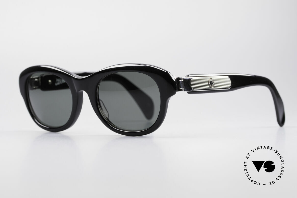 Jean Paul Gaultier 56-2071 No Retro True Vintage Specs, enormous massive frame with striking metal appliqué, Made for Women